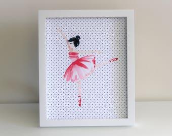 Ballerina Art Print. Ballerina Wall Art. Ballerina Theme. Ballerina Party. Nursery Decor. Nursery Art. Pink Ballerina. Wallart. Tutu. Girl