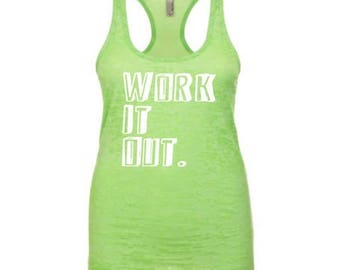 15% off this week workout tank / fitness tank / work it out / womens workout