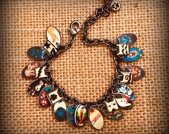 Warrior Cats - Warrior Cats Jewelry - Warrior Cats Bracelet - Charm Bracelet - Young Reader - Warrior Cats Books - Boy - Girl - Fan - Reader