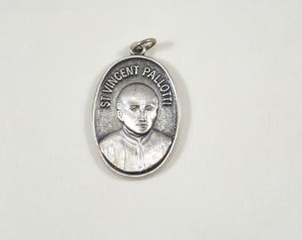 St. Vincent Palliotti Medal 1835 - 1985 Vintage Religious Saint Medal