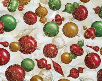 "Christmas balls and ornaments Valance Curtain 42"" W x 13"""