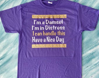 Hercules shirt, Meg shirt, Damsel in distress shirt, Hercules tshirt, Have a nice day shirt