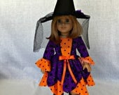 American Girl Handmade  Halloween costume - 18 inch doll Halloween Costume -fits American Girl and similar 18 inch dolls