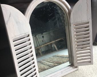 Vintage Garden Shutter Mirror