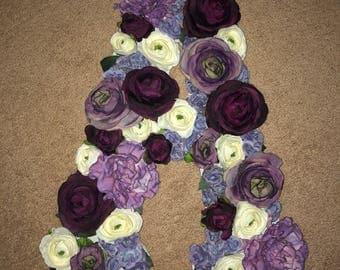 """Floral Letter 18"""""""