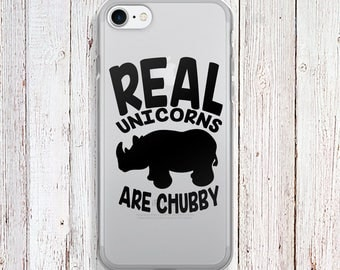 Clear Phone Case - Real Unicorns are chubby Phone Case - Chubby Unicorns  case - iPhone Regular case