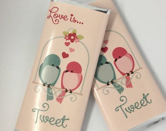 valentines day candy wrapper love birds theme personalized candy wrapper with hershey bar