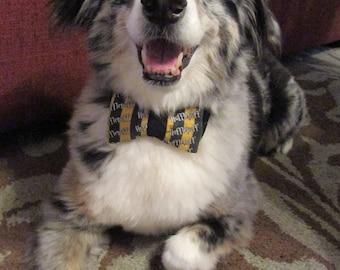 Dog Bow Tie Adjustable Harry Potter House Hufflepuff