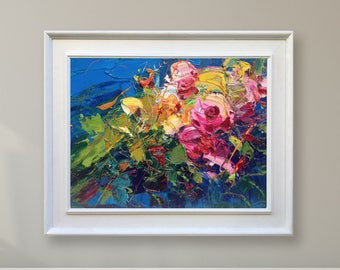 abstract flowers painting canvas art original painting oil painting abstract painting abstract art flowers gift for