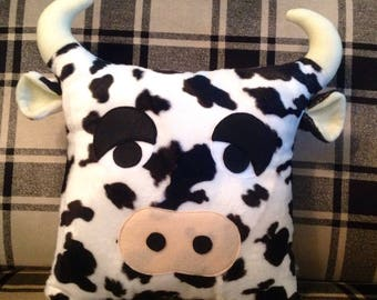 Super cute, super soft cow cushion