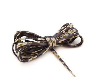 Spaghetti liberty Mitsi-D grey 4 mm cord