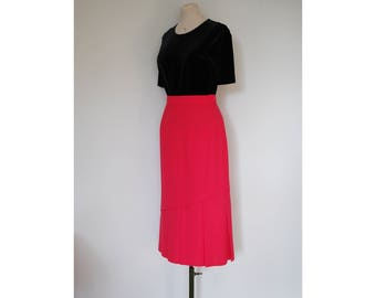 Vintage Jacques Vert Coral Pink Pleat Skirt, Size 10