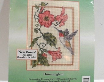 "Hummingbird Counted Cross Stitch #51538 Candamar Designs 5""x7"" New 2006"