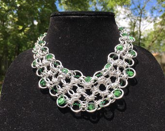 Silver With a Hint of Green Necklace