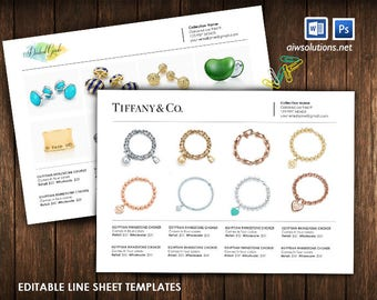 Product Line Sheet, Wholesale Catalog Template, Mini Product Brochure,  Minimalist Wholesale Sheet,