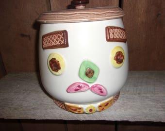 NAPCO Cookie Jar - Happy Face and Sad Face Anthropomorphic - Japan # 1K 5710