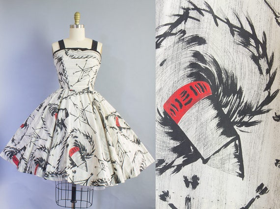 1950s Sombrero Print Sundress | Medium (34B/27W)