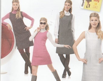 Simplicity 1252 Retro Reissue Pattern 60's Jiffy Dress or Jumper Size 14,16,18,20,22 UNCUT