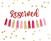 Reserved for Janessa