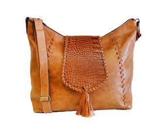 Brown leather bag, brown crossbody bag, shoulder purse, leather purse, brown leather crossbody bag, brown handbag, crossbody purse, handbag