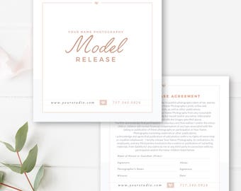 Photographer Model Release Template, Photography Business Forms, INSTANT DOWNLOAD!