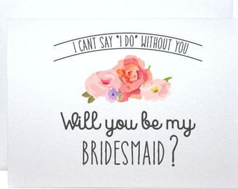 Wedding card, will you be my bridesmaid, invitation, proposal, asking card will you be my bridesmaid gift rustic card request will you be my