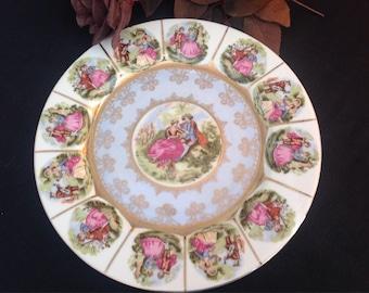Fragonard cabinet plate. White/pale blue