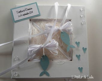 "Ring bearer personalized and original ""PISCES"""