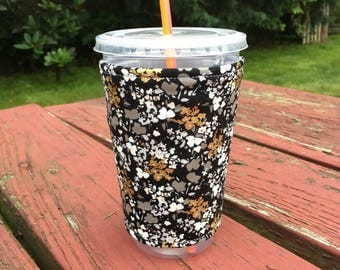 Caffeine Cuff - Iced Coffee Cuff - Iced Coffee Sleeve - Coffee Insulator - Drink Sleeve