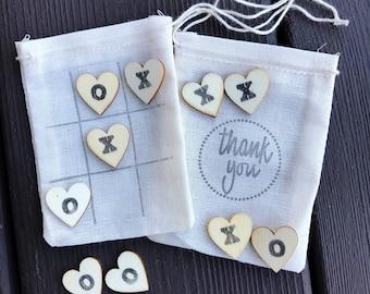 Tic tac toe party favors - wedding favors - reception favors - quiet game