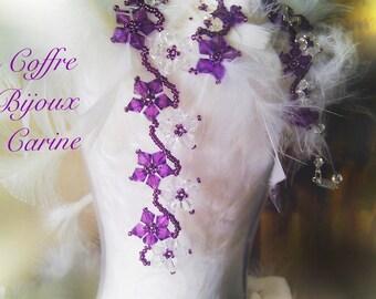 Bridal necklace Crystal pearls of Swarovski - color choice - wedding party ceremony custom-made