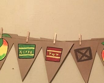 Crash bandicoot birthday banner