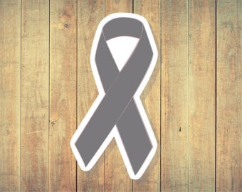 Diabetes, Borderline Personality Disorder, Brain Cancer, Parkinson's Disease, Schizophrenia, Gray, Asthma, Cancer, Awareness Ribbon Sticker