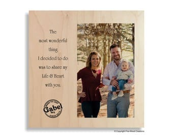 Anniversary Wood Gift, Photo on Wood, Wood Wall Art,  5th Anniversary, 5 Year, Wood Anniversary Photo, Wood Gift for Her, Personalized Gift
