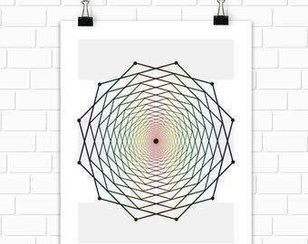 Geometry Geometric Printable Art Spectrum Modern Art Wall Art Instant Download Digital File 11x14 8x10 5x7