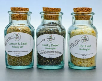 Finishing Salts | Herbal | Seasoning | Herbs | Sage | Lime | Red Pepper | Lemon | Sea Salt | Rosemary | Juniper Berries | Orange