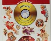 Romantic Vignettes, CD-Rom / Book Dover Series: 370 Permission-Free Designs, Victoriana, Love, Valentine Graphics in Full Color, 1996. BK-53