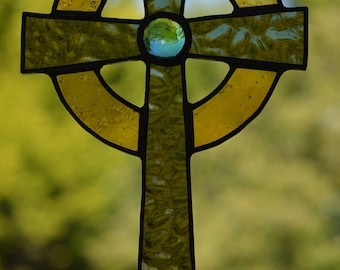 Celtic Cross - Stained Glass Suncatcher