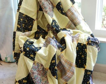 TICK TOCK Vintage quilt