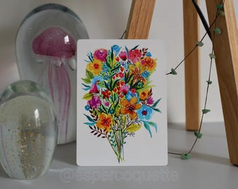 "POSTCARD ""Merry bouquet"""