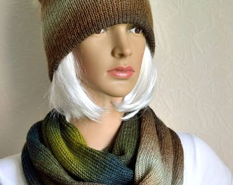 Hand made women's scarf and hat set