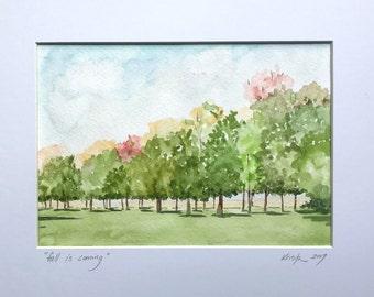 Original watercolor landscape, watercolor original, Last minute gift, Landscape original watercolor