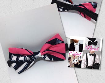 Pink bow tie for child wax