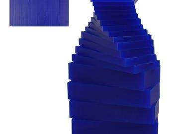 17 Piece Assortment of 1 Lb Blue Wax Carving Block Jewelry Pattern Making Machining Medium-Hard Melting Modeling Wax - WAX-331.20
