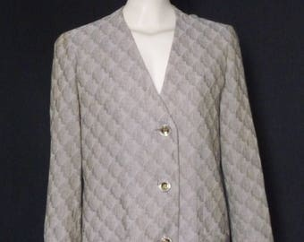 Jean-Louis SCHERRER - jacket, light - vintage 80's - size 42FR