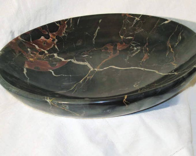 Handmade Marble Centerpieces/PORTORO Dish/Plate/ Christmas Gift/ Wedding Gift/ Gift for Mom/Vase/Vaso/Regalo/Pranzo/Collezione/Made in Italy