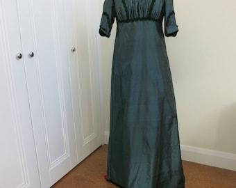 """Jane Austen Regency style silk  gown to fit 36""""-38""""Bust (92-97cm)"""