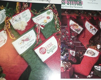 Hickory Hollow & Charles Craft Christmas Stockings Cross Stitch Pattern Leaflets