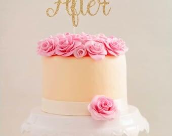 Happily Ever After Cake Topper  l  Bridal Shower Cake Topper  l   Wedding Cake Topper  l  Bachelorette Cake Topper  l  Custom Cake Topper