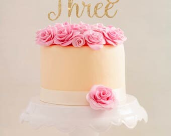 Third Birthday Cake Topper     Young Wild & Three Cake Topper     Third Birthday Topper     Young Wild and Three Cake Topper    3rd Birthday